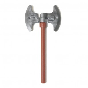 LEGO Heavy Pearl Dark Gray Axe , Brown Bar