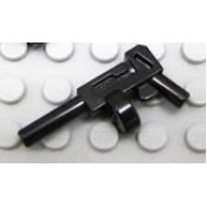 LEGO Minifigure Weapons - Black Minifig, Weapon Gun, Pistol Automatic Long Barrel and Round Magazine